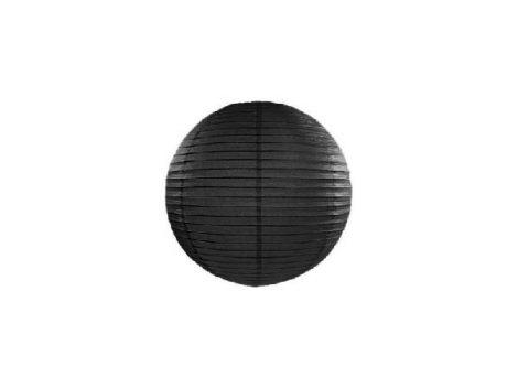lampion gömb papír 30 cm , fekete