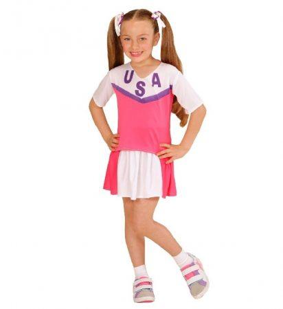 pom-pom lány farsangi jelmez pink-fehér(158 méret)