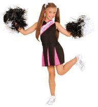 pom-pom lány farsangi jelmez pink-fekete-140 méret