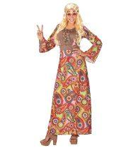 Hippie női farsangi jelmez, hosszú-44-46 méret