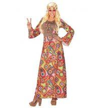 Hippie női jelmez, hosszú-44-46 méret