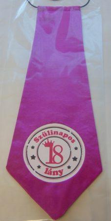 nyakkendő 18.szülinapra, pink