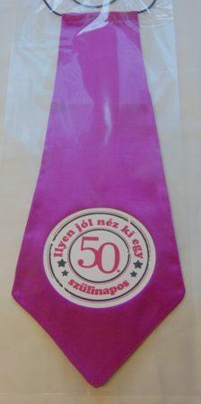 nyakkendő 50.szülinapra, pink