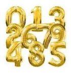 7. szám fólia lufi (35 cm), arany