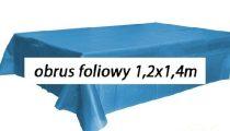 műanyag abrosz-(1.2x1,4 m)- kék
