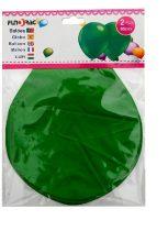 óriás gumi lufi zöld, 65 cm-s (2 db)