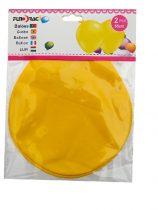 óriás gumi lufi sárga , 65 cm-s (2 db)