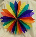 papír tárcsa színes , 50 cm