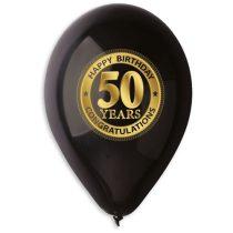 lufi 50. születésnapra, fekete(10 db)