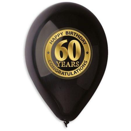 lufi 60. születésnapra, fekete(10 db)