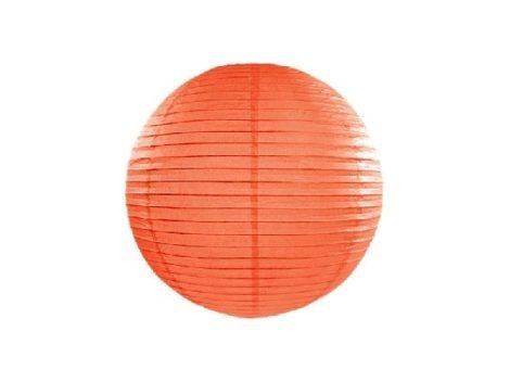 papír lampion 35 cm, narancs