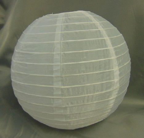 Organza lampion fehér (40 cm)