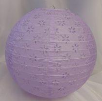 csipkés papír lampion lila, 40 cm