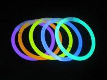 világító pálca/karkötő (50 db) vegyes színekben