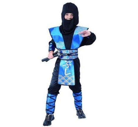 ninja gyerek farsangi jelmez vkék (120-130 méret)-SL-NN12