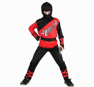 sárkány ninja gyerek farsangi jelmez 110-120 méret-SL-DN11