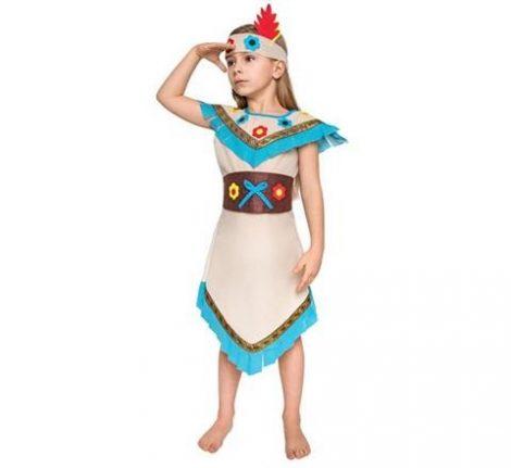 indián lány gyerek farsangi jelmez(110-120 méret) - STIKK