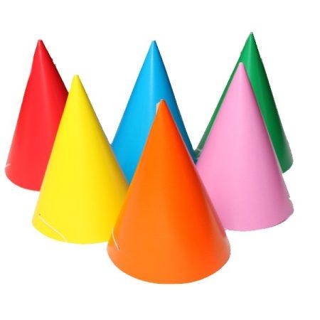 Egyszínű papírcsákó ( 6 db)
