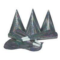 hologramos kalap ezüst(6 db)