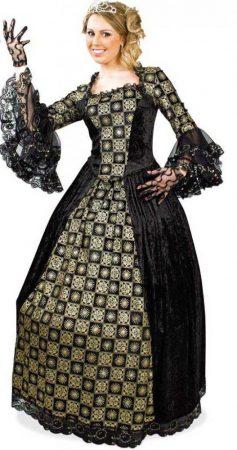 barokk női farsangi jelmez (16271)
