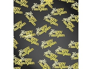 Happy New Year ! konfetti arany