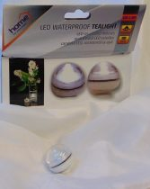 LED-es vízálló mécses hideg fehér vagy meleg fehér színben (12 db)