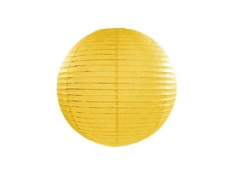 sárga papír lampion gömb 20 cm-es (084)