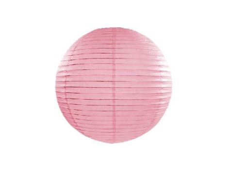 rózsaszín papír lampion gömb 35 cm-es (081)