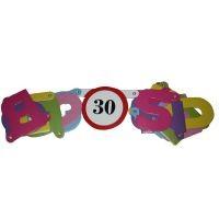 Boldog 30. születésnapot ! betűfüzér