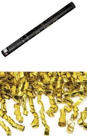Konfetti ágyú arany szerpentinnel (60 cm)-TUKASZ