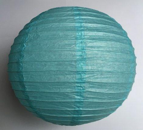 mentakék papír lampion gömb 30 cm-es