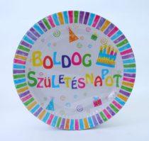 Boldog Születésnapot ! tányér 23 cm (6 db)