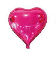 Szív alakú pink fólia lufi (45 cm)