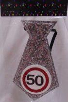 évszámos, ezüst nyakkendő 50.