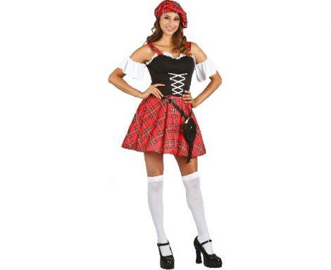 skót női jelmez, M méret (SSZEL-LUM)
