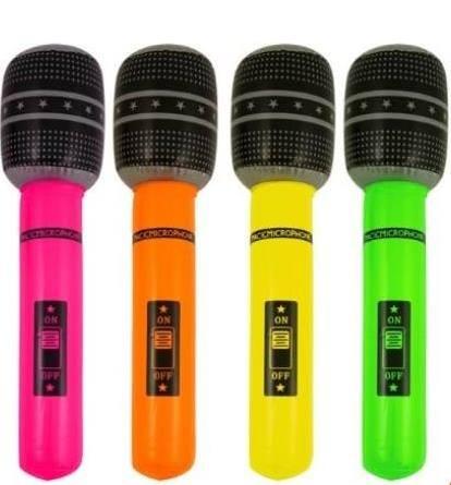 Felfújható mikrofon több színben (26 cm)