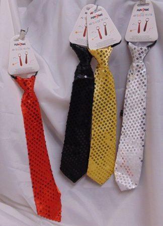 Flitteres nyakkendő több színben