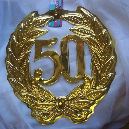 50 arany függeszthető dísz (40 cm)