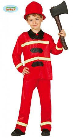 tűzoltó jelmez (7-9 éves)-85590