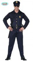 rendőr férfi jelmez (52-54 méret)-80180