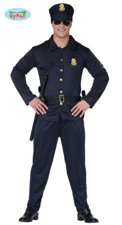 rendőr férfi jelmez (XL-54-56 méret)-88113