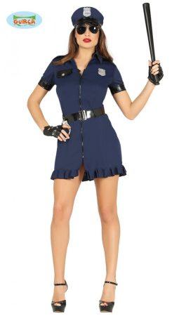 sexy női rendőr jelmez(S-36-38 méret)-88236