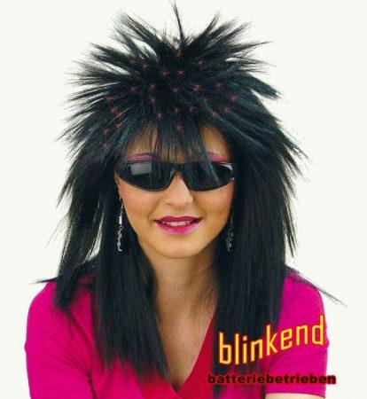Fekete, női punk paróka- 35570