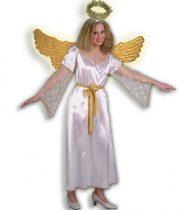 női angyal jelmez, hosszú (38 vagy 42 méretben)