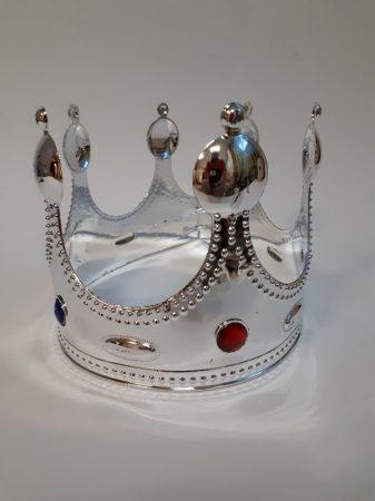 korona ezüst színben (kj)