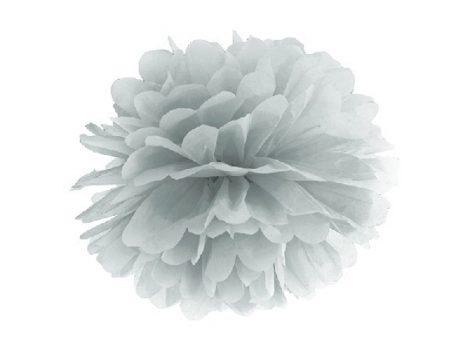 papír gömb / pom-pom (35 cm átmérő ) ezüst (fényes)-018