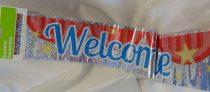 Welcome home fólia felirat, 3,6 m