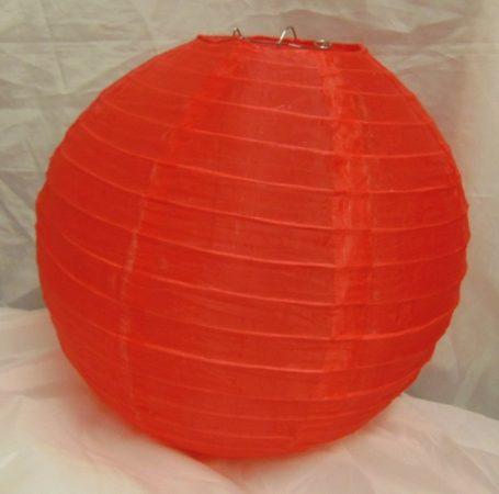 piros organza lampion (35 cm)
