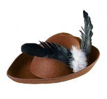 Vadász / Robon Hood kalap, barna textil