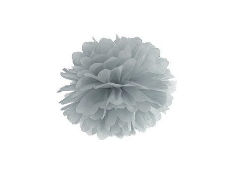 papír gömb / pom-pom (25 cm átmérő ) ezüst (fényes)-018